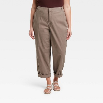 Women's High-Rise Straight Chilled Out Ankle Chino Pants - A New Day™