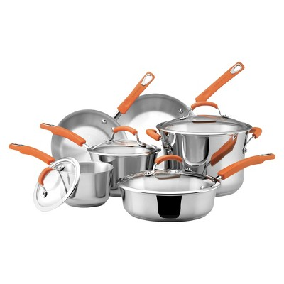 Rachael Ray Stainless Steel 10Pcs Cookware Set