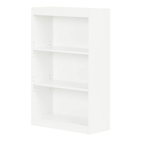 "43.25"" 3 Shelf Pasadena Bookcase Pure White - South Shore - image 1 of 4"