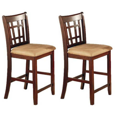 Cool Coaster Home Furnishings Lavon 24 Inch Hardwood Bar Stool Tan Brown Pair Gamerscity Chair Design For Home Gamerscityorg