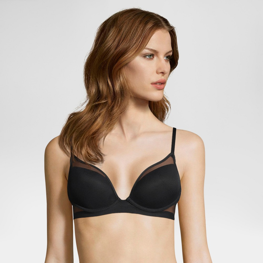 Maidenform Self Expressions Women's Lightly Lined Mesh Bra - Black 34C