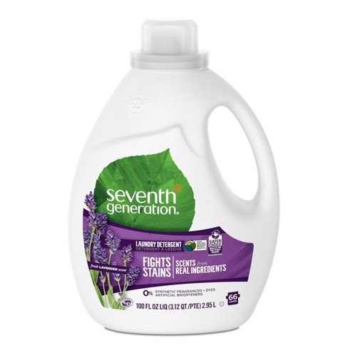 Seventh Generation Lavender Scented Natural Liquid Laundry Detergent - 100 fl oz - image 1 of 4