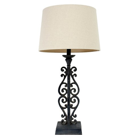 "J. Hunt Faux Distressed Iron Table Lamp - Black (30"") - image 1 of 3"