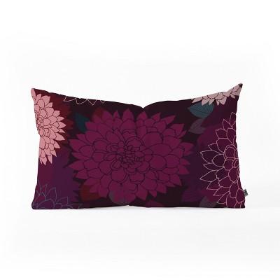 Iveta Abolina Burgundy Rose Lumbar Throw Pillow Red - Deny Designs