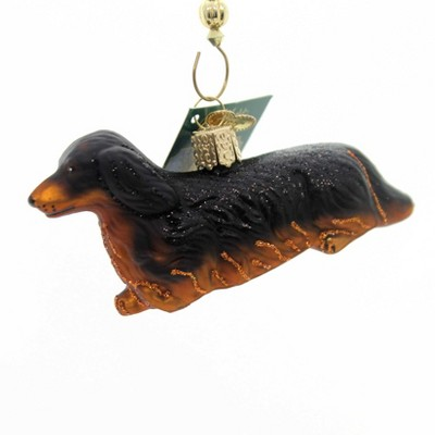 """Old World Christmas 2.0"""" Long-Haired Dachshund Ornament Dog Puppy  -  Tree Ornaments"""