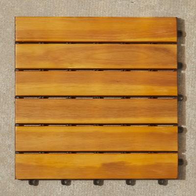 Vifah Acacia Interlocking Deck Tile - Brown