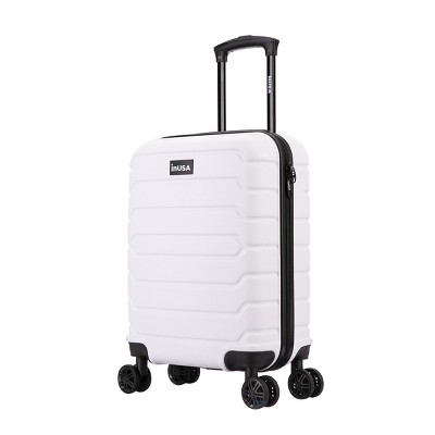 "InUSA Trend 20"" Lightweight Hardside Carry On Spinner Suitcase - White"