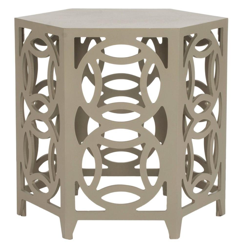 Natanya Side Table - Pearl Taupe - Safavieh