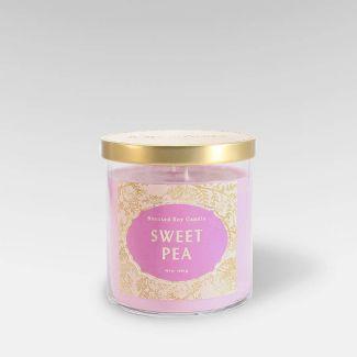 15.1oz Lidded Glass Jar 2-Wick Candle Sweet Pea - Opalhouse™