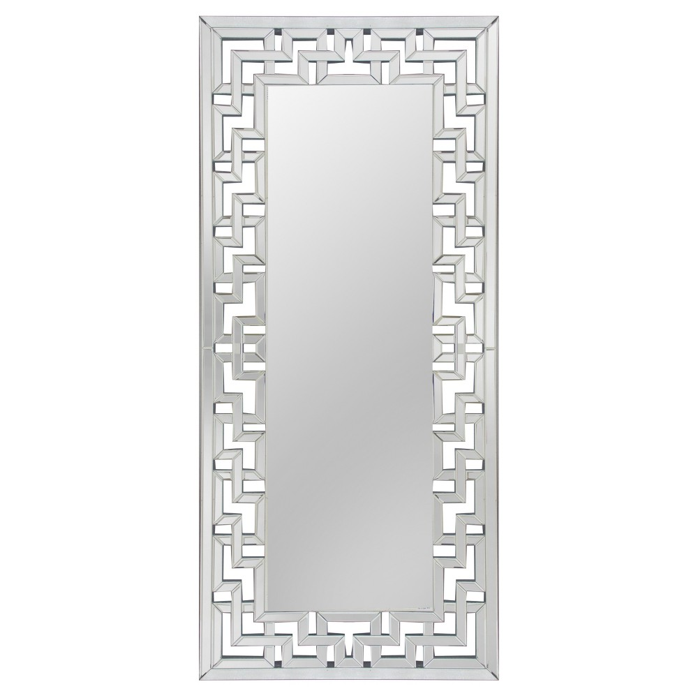 "Image of ""70"""" Athena Leaning Floor Mirror Silver - Abbyson Living"""