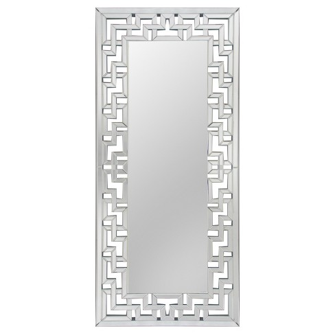 "70"" Athena Leaning Floor Mirror Silver - Abbyson Living - image 1 of 3"