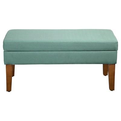 Decorative Textured Linen Storage Bench   Homepop