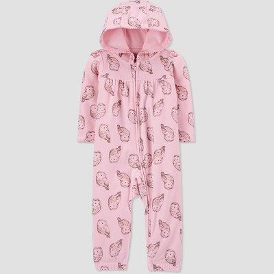 Baby Girls' Owl Rompers - Just One You® made by carter's Pink Newborn