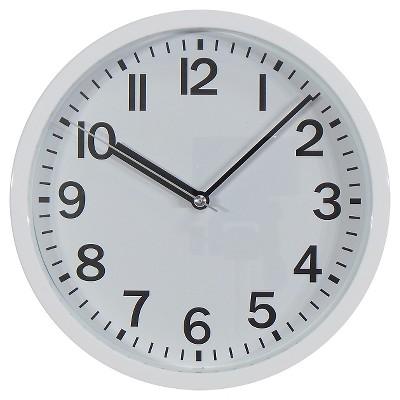 9  Round Wall Clock White - Room Essentials™