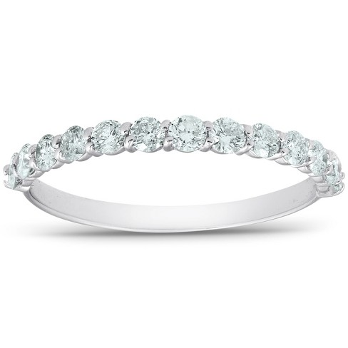 3ct Diamond Eternity Wedding Ring 14K White Gold Stackable Womens Band