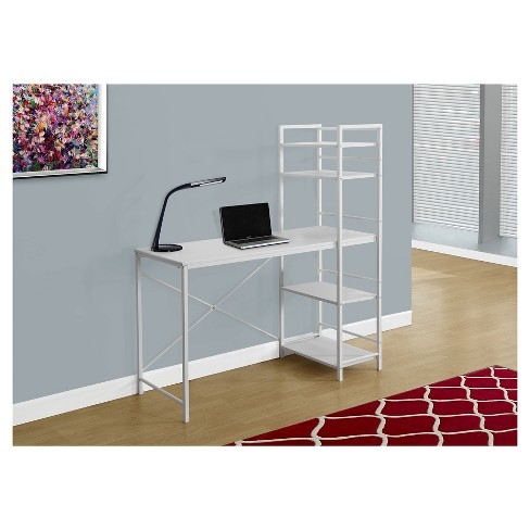 White Top Computer Desk - White Metal - EveryRoom - image 1 of 1