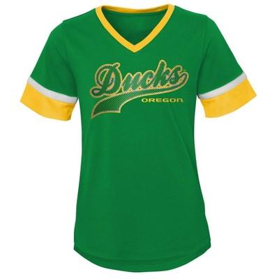 NCAA Oregon Ducks Girls' Short Sleeve V-Neck T-Shirt