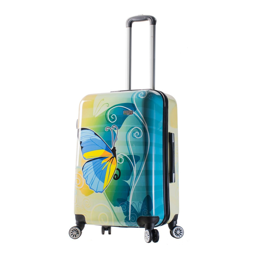 "Image of ""Mia Viaggi ITALY 24"""" Hardside Suitcase - Butterfly, MultiColored"""