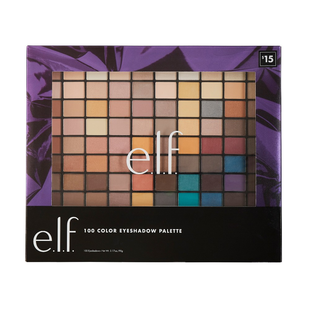 e.l.f. Holiday 100 Color Eyeshadow Palette, Multi-Colored
