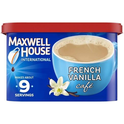 Maxwell House French Vanilla Cafe Medium Roast Beverage Mix - 8.4oz - image 1 of 4
