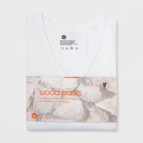 a0266b727d Men s Wood Works Short Sleeve V-Neck T-Shirt - Whit   Target