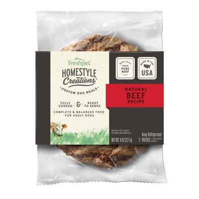 Freshpet Homestyle Creations Beef Patties Wet Dog Food - 2pk