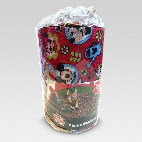 "58""x49"" Mickey Mouse & Friends Picnic Blanket - Red - Disney - image 1 of 2"
