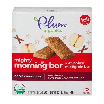 Plum Organics Mighty Morning Apple Cinnamon Bar - 5ct/0.67oz Each