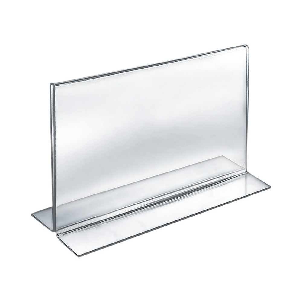 "Image of ""Azar 11"""" x 8.5"""" Double-Foot Acrylic Sign Holder 10ct"""