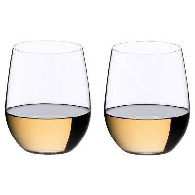 Riedel 0414/05 O Wine Collection Chardonnay/Viognier Stemless Fine Crystal Tumbler Drinking Glass Set, 11.3 Ounces, (2 Pack)