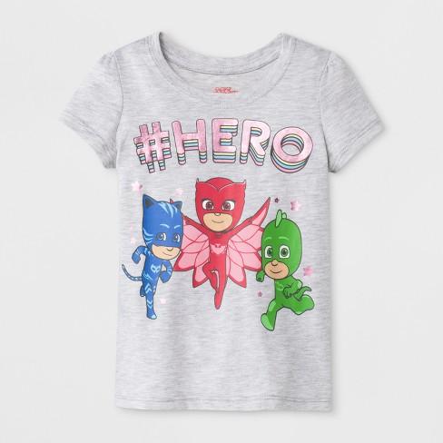 09be22b66 Toddler Girls' PJ Masks Short Sleeve T-Shirt - Gray : Target