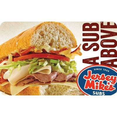 Jersey Mike's Sub Gift Card $15 (Email Delivery)