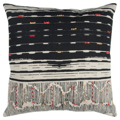 "22""x22"" Oversize Boho French Knot Square Throw Pillow - Rizzy Home"