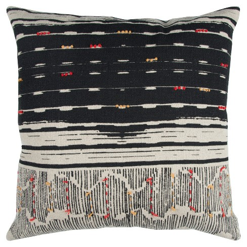 """22""""x22"""" Oversize Boho French Knot Square Throw Pillow - Rizzy Home - image 1 of 3"""