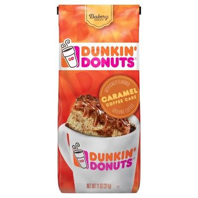 Dunkin' Donuts Caramel Cake Medium Roast Ground Coffee - 11oz