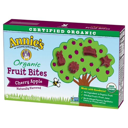 Annie's® Homegrown Cherry Apple Organic Fruit Bites - 3.15oz - image 1 of 1