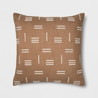 Silk Geo Oversize Square Throw Pillow Neutral - Project 62™