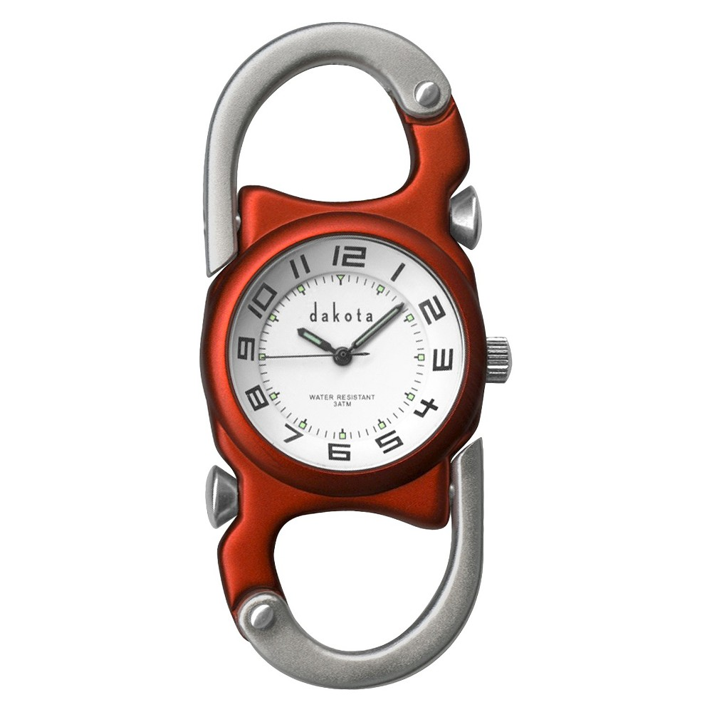 Image of Men's Dakota Double Clip Watch - Orange, Size: Small