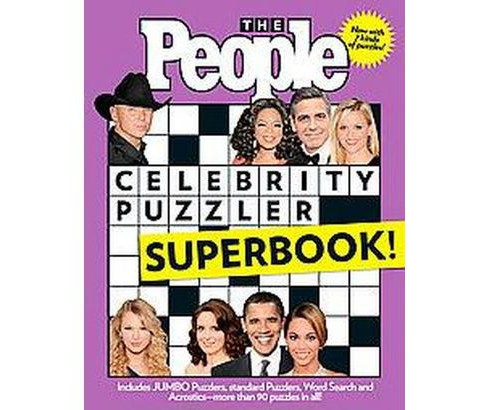The People Celebrity Puzzler Superbook! (Paperback) by Cutler Durkee - image 1 of 1