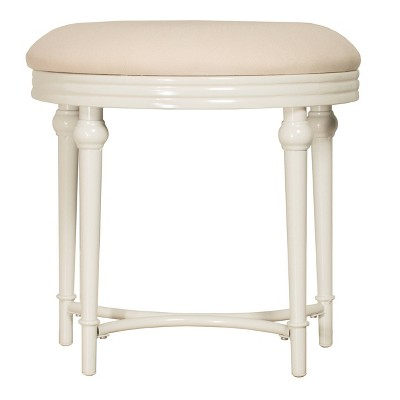 """Cape May 19"""" Vanity Stool - Matte White - Hillsdale Furniture"""