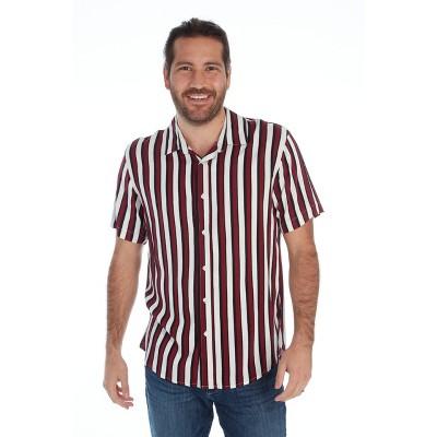 Distortion Men's Short-Sleeve Button Down Shirt