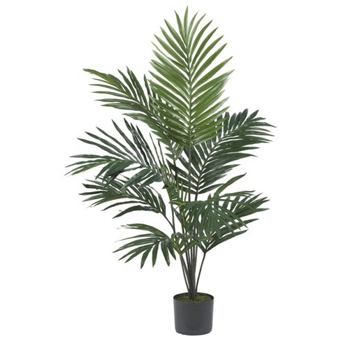 60 Artificial Kentia Palm Tree In Pot Black Nearly Natural Target