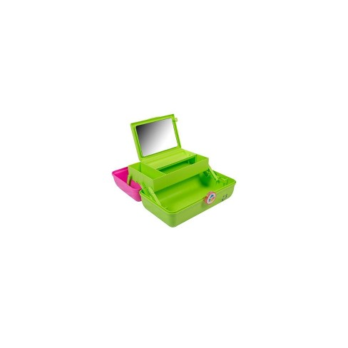 Caboodles On The Go Girl Makeup Bag - Citron and Pink - image 1 of 4