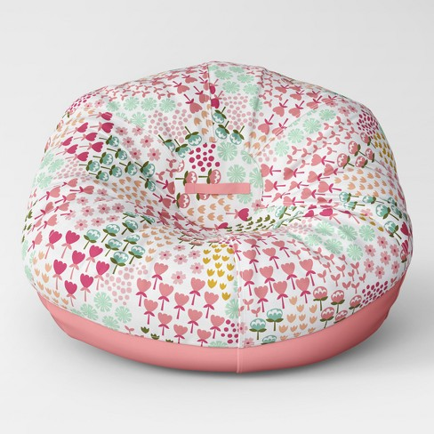 Enjoyable Jumbo 40 Two Tone Removable Cover Bean Bag Pillowfort Evergreenethics Interior Chair Design Evergreenethicsorg