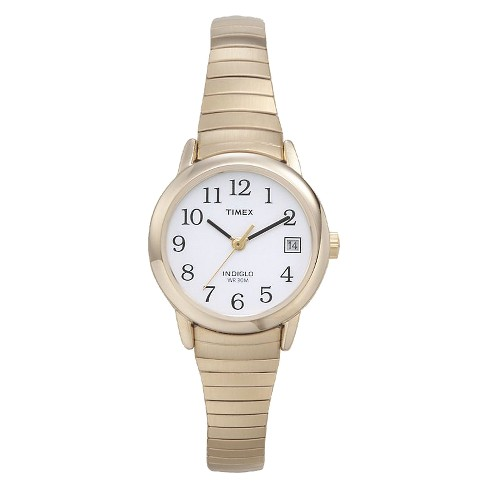 5077d0fb0 Women's Timex Easy Reader® Expansion Band Watch - Gold T2H351JT : Target