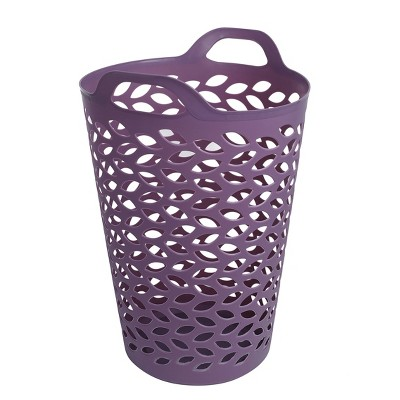 Flexi Leaf Laundry Hamper Lavender - Ezy Storage