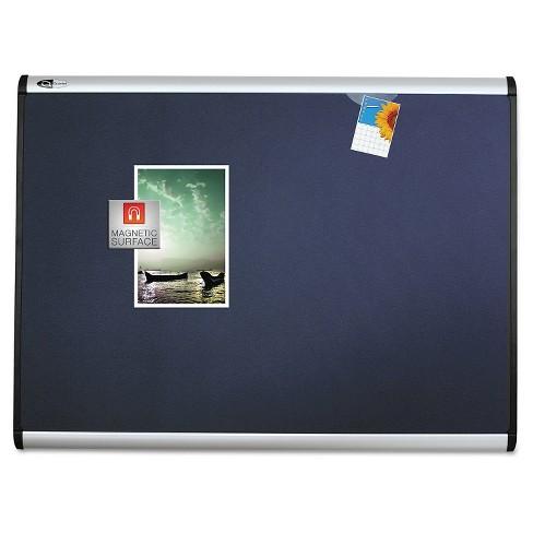 Quartet Prestige Magnetic Bulletin Board Aluminum Frame 36x24 Black