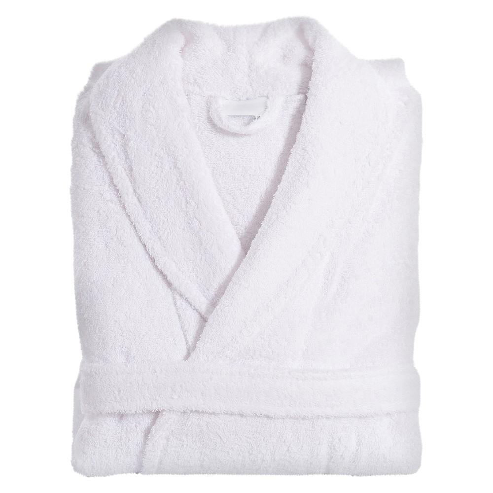 Terry Cloth Bathrobe Unisex Linum Home White Large Xlarge