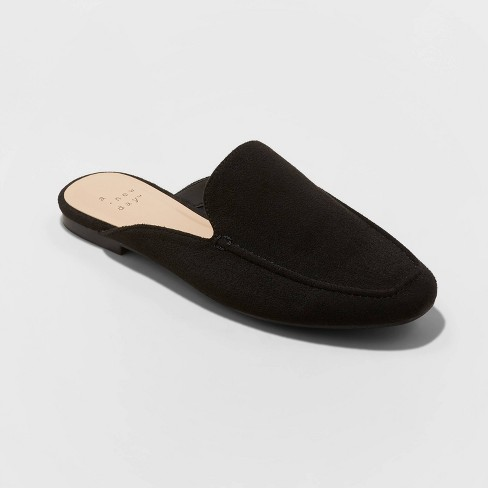 Women's Mabel Microsuede Square Toe Mules - A New Day™ - image 1 of 3