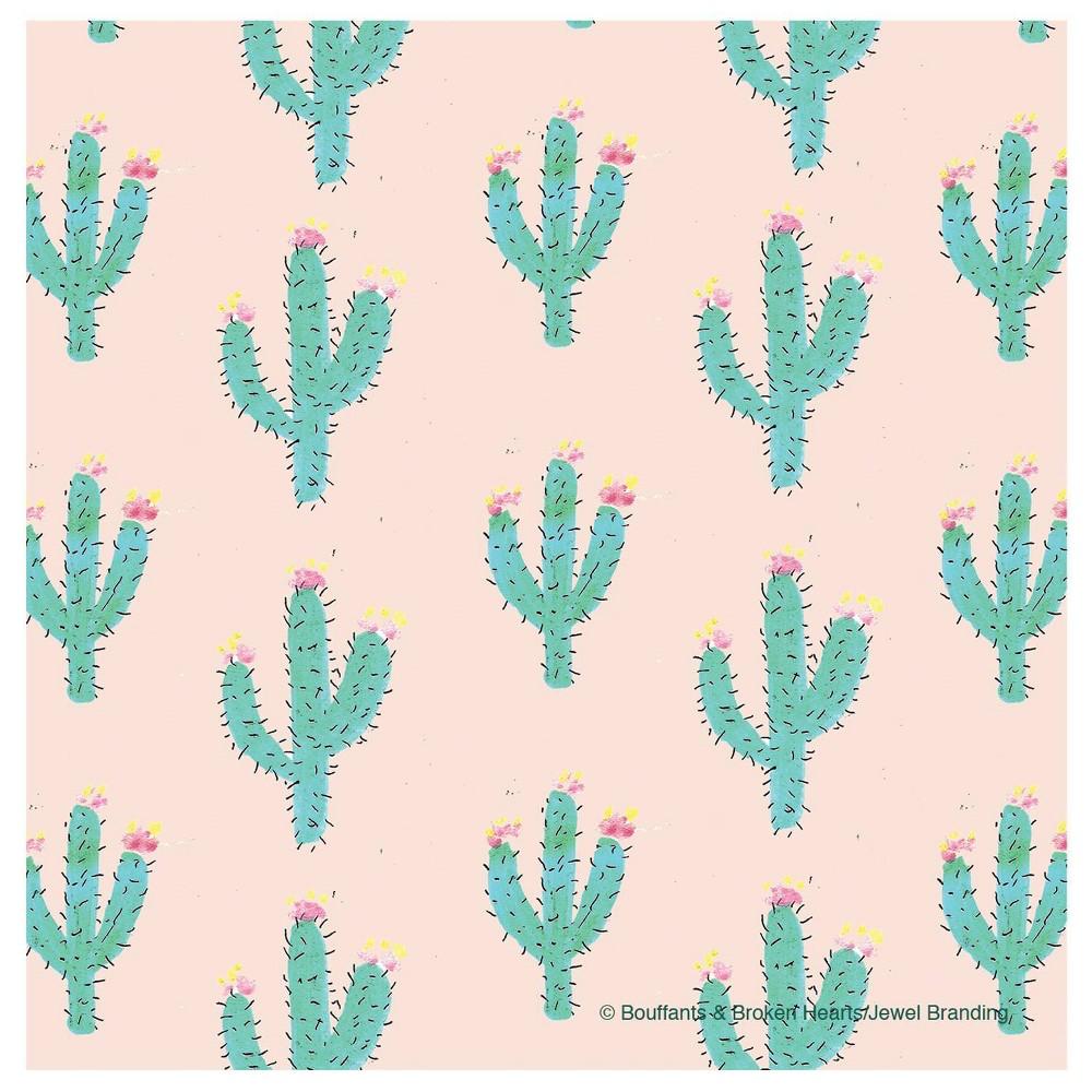 Image of 4pk Ceramic Pink Cactus Print Coasters - Thirstystone